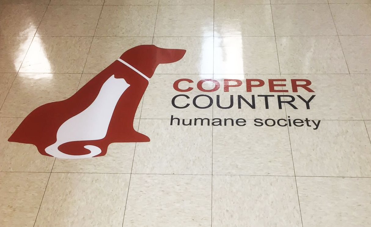 Copper Country Humane Society Floor Decal