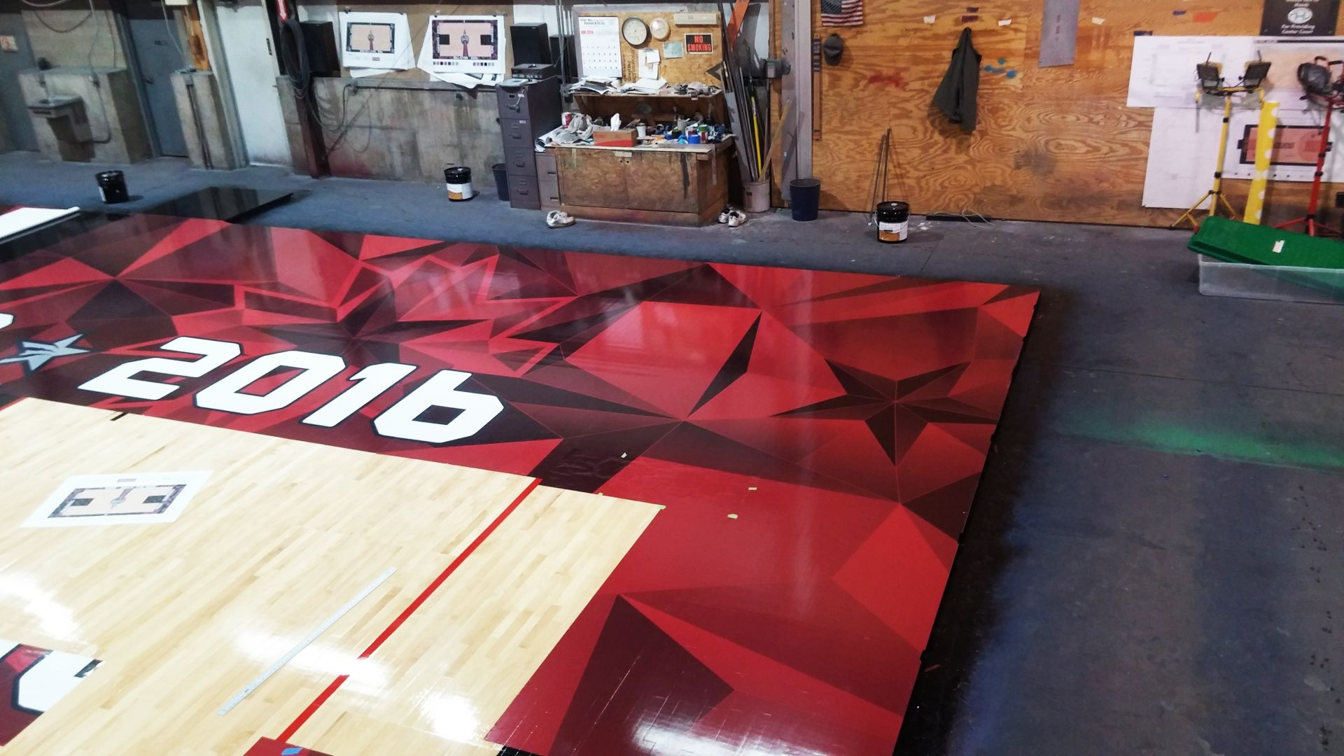 Basketball Court Graphics Detail