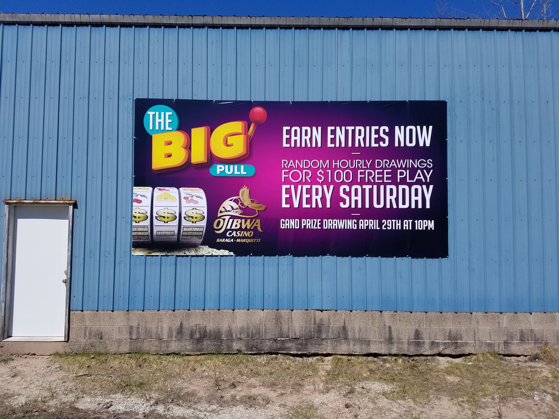Ojibwa Casino Banner Advertisement