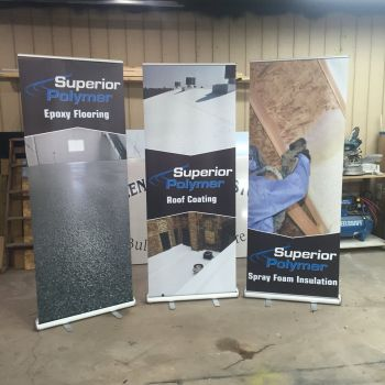 Superior Polymer tradeshow banners